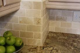 Kitchen Marble Backsplash Tumbled Marble Backsplash Is Beautiful In A Subway Tile Pattern