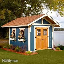How To Build A Small Shed Step By Step by Shed Plans Storage Shed Plans The Family Handyman