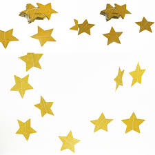Decorative Garlands Home by Double Side Gold Star Wall Hangings Props Decoration Star Card