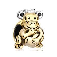 chamilia halloween beads 2017 personalized jewelry monkey hold heart love bowknot european