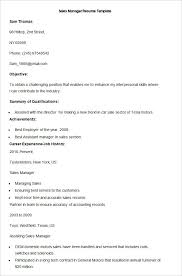 Sample Of Sales Manager Resume by Sales Resume Template U2013 41 Free Samples Examples Format