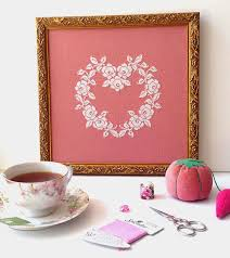 Design Bloggers At Home Pdf Sew French French Rose Heart Cross Stitch Pattern