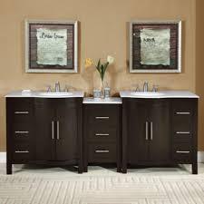 accord 89 inch contemporary double sink bathroom vanity set