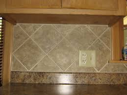 Ceramic Kitchen Backsplash Simple 4x4 Ceramic Tile Kitchen Backsplash On Diagonal