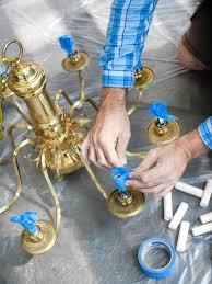 how to modernize a traditional brass chandelier hgtv