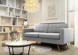 Seventy Modern  Seater Sofa In Grey Funiquecouk - Sofa modern 2
