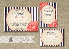 navy and coral wedding invitations plumegiant com