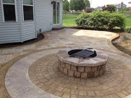 Backyard Cement Patio Ideas by Walkers Concrete Llc Stamped Concrete Patio Stamped Concrete Or