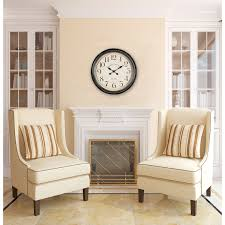 decorating round oversized wall clock in cream for wall