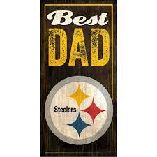 steelers best dad sign