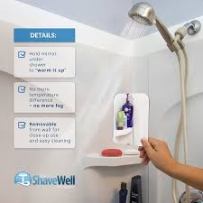 amazon com deluxe shave well fog free shower mirror made in the