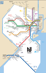 Map Of Pennsylvania And New Jersey by Map Of Nyc Commuter Rail Stations U0026 Lines