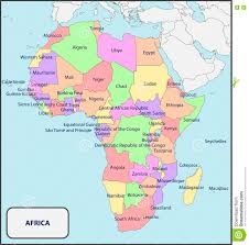 Map Of Kenya Africa by Political Map Of Africa With Names Stock Photo Image 73627247