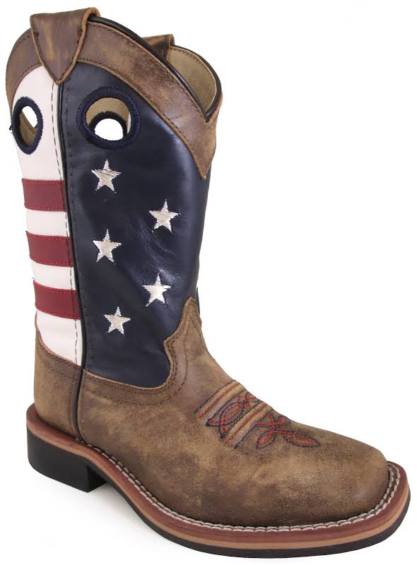 Smoky Mountain Youth Stars and Stripes Boots 7