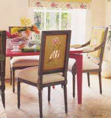 dining room replaceable upholstery of zebra fabric upholstered
