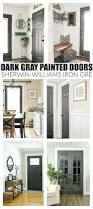 Grey Interior The Power Of Paint Dark Painted Interior French Doors Painting