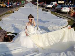 Record-breaking Wedding Dress Has Two-mile-long Train
