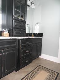 Antiqued Kitchen Cabinets by Vintage Onyx Distressed Finish Kitchen Cabinets