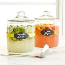 Glass Canisters For Kitchen Anchor Hocking Glass Canisters With Glass Lids The Container Store