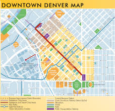 Downtown Dallas Map by Denver Downtown Map