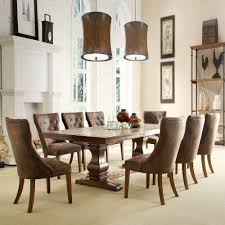homesullivan regina 9 piece weathered oak dining set 402526 969pc