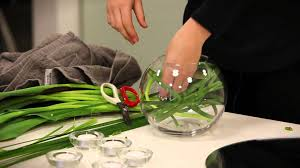 Table Flower Arrangements How To Make A Table Flower Arrangement Using A Fishbowl Youtube