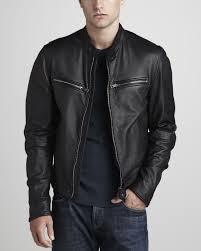 men s moto jacket fashionable mens leather jackets