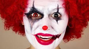 scary clown halloween makeup youtube