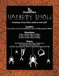 halloween circus variety show at circus place