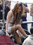 Miley Cyrus Pussy No Panty Upskirt