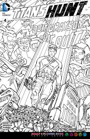 image titans hunt vol 1 4 coloring book variant jpg dc