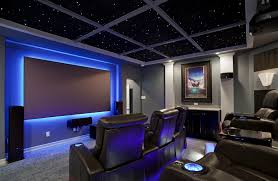Interior Design For Home Theatre by Home Theater As Addition To Large Modern Interior Small Design Ideas