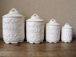 Country Canister Sets For Kitchen White Kitchen Canisters Ceramic Set U2014 Onixmedia Kitchen Design