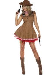 ladies wild west cowgirl cowboy western fancy dress costume
