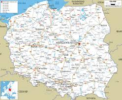 Detailed Map Of Germany by Large Detailed Road Map Of Poland With All Cities And Airports
