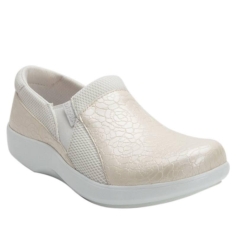 Alegria Duette Slip On Shoe 10.5-11 US in Flourish White