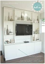 interior design ikea wall units media center with bookshelves