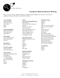 Java Resumes Computer Skills On A Resume Resume For Your Job Application