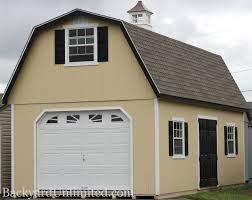 Gambrel Roof Garages U0026 Large Storage Single Car Garages Backyard Unlimited