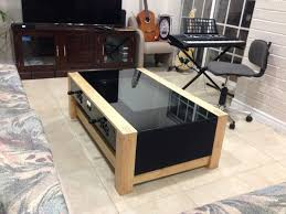 modern wood and glass coffee table furniture arcade coffee table design ideas brown rectangle