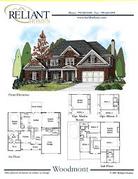 reliant homes the woodmont plan floor plans homes homes