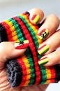Group of: Nail Art Gallery - Rasta Nail Art | We Heart It - Downloadable
