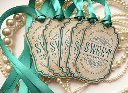 candy labels sweet confections vintage inspired teal ribbon