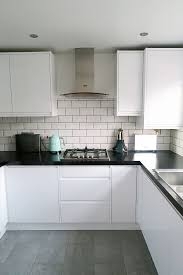 good layout with tall cabinets in the corner gloss units though our new kitchen which we designed with wickes i love the white gloss mint