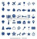 Travel, Tourism And Vacation Icons, Isolated On White Background ... picturesof.net
