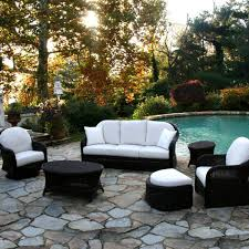 White Resin Wicker Outdoor Patio Furniture Set - patio furniture austin for minimalist house cool house to home