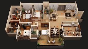 2 bedroom house 3d plans open floor plan also more bedroomfloor