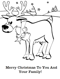 christmas animal coloring pages getcoloringpages com