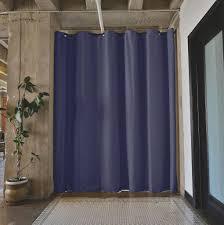 roomdividersnow premium tension curtain rods roomdividersnow black tension rod room divider curtain 2