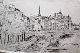 John Roome  Drawings of Paris  Pen on Paper        Done during my     Drawings of Paris  Pen on Paper        Done during my residence at the Cite des Arts